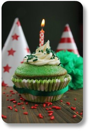 Irish Birthday - Shamrock Cupcake
