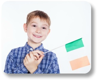 Best Irish Baby Names - Boy With Irish Flag