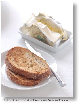 Irish potato bread and butter.  Image by Jules Stonesoup.  Flickr.com.